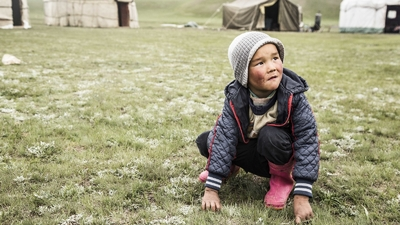 Children in the mountains of Kyrgyzstan